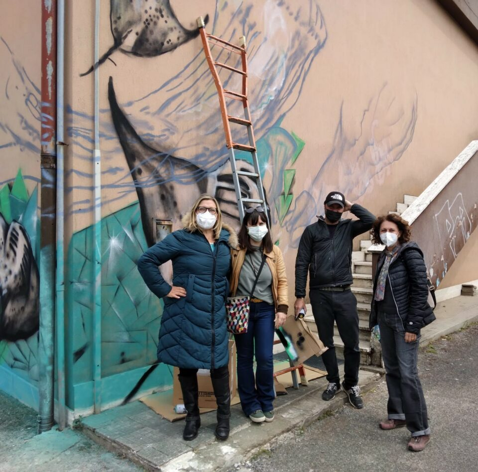 Moby Dick con le docenti della scuola Morvillo